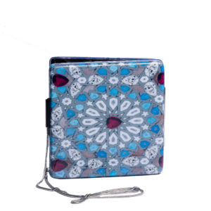 yazi arbia blue clutch