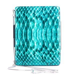 Turquoise Python clutch V