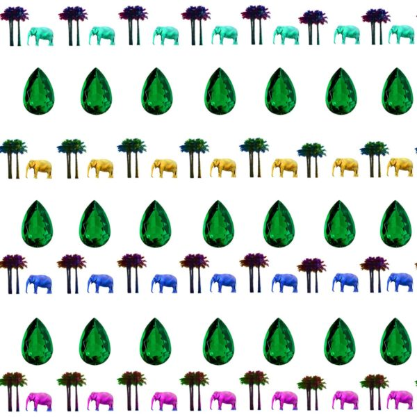 Yazi Moroccan Paradise Emeralds pattern