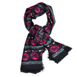 Pink Lips and Diamonds Scarf by Yazi