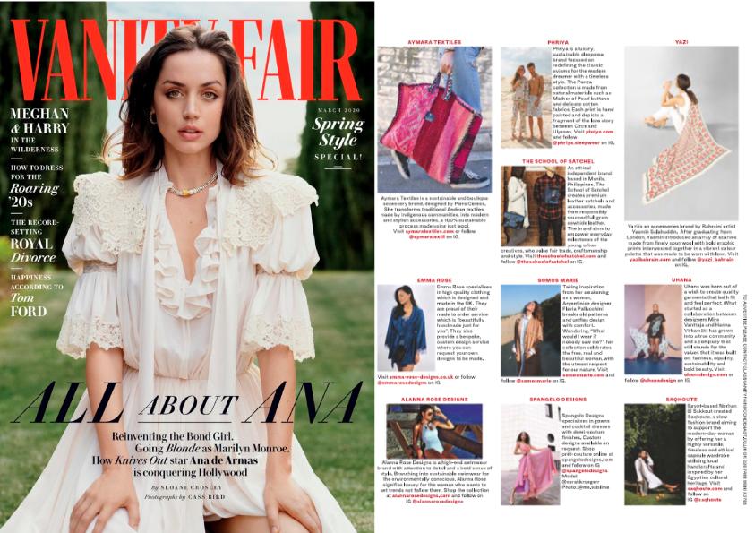 Yazi vanity fair magazine
